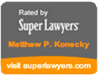 Logo Recognizing The Law Office of Matthew Konecky, P.A.'s affiliation with Super Lawyers